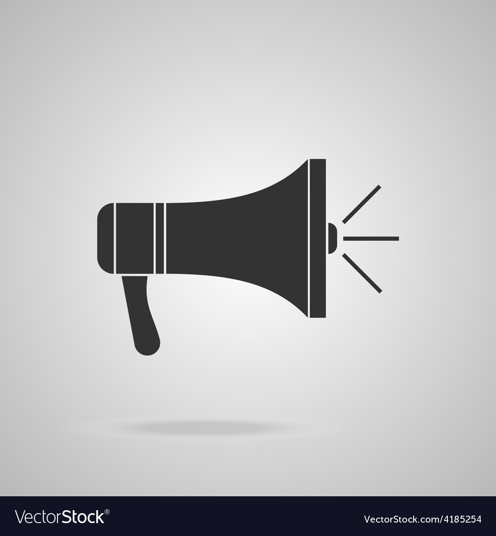 Megaphone icon loudspeaker isolated vector | Price: 1 Credit (USD $1)