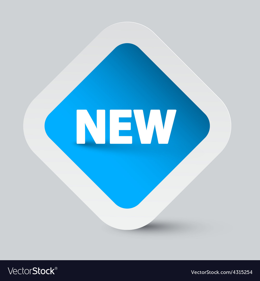 New title on blue sticker vector | Price: 1 Credit (USD $1)
