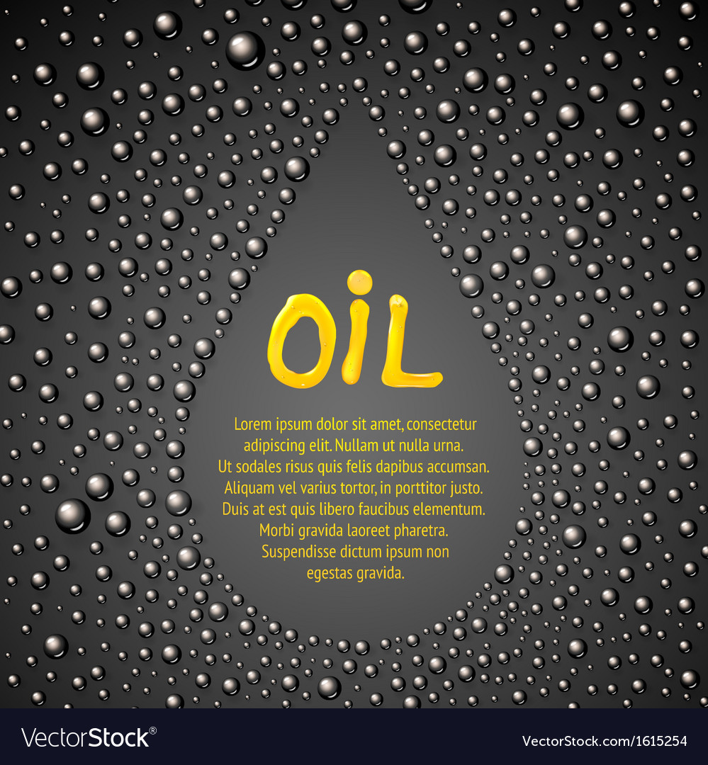 Oil drop abstraction vector | Price: 1 Credit (USD $1)