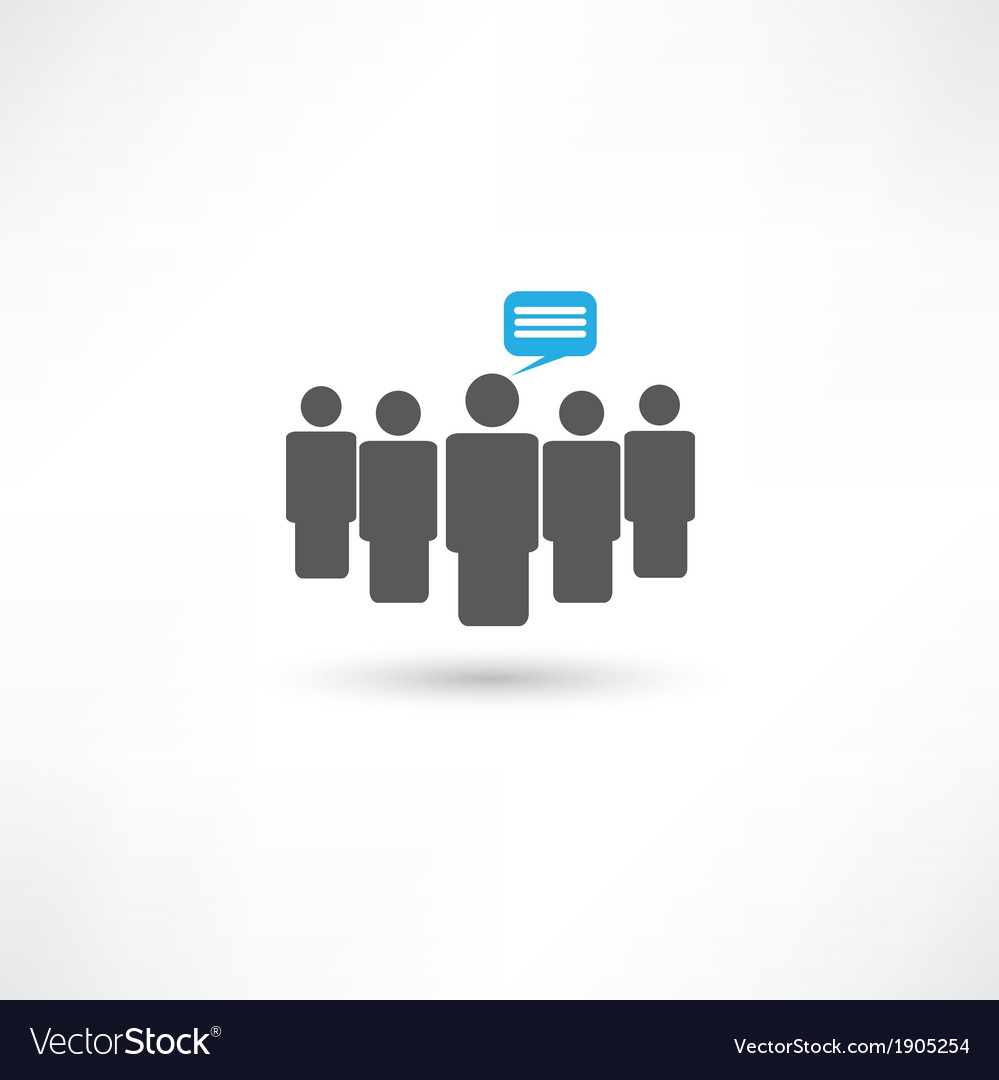 People communication vector | Price: 1 Credit (USD $1)