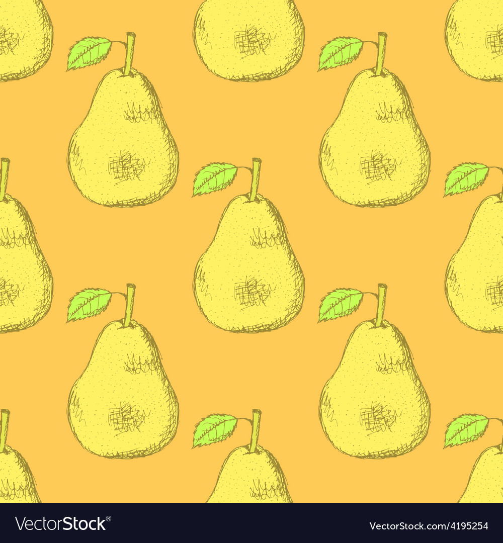 Sketch tasty pear in vintage style vector | Price: 1 Credit (USD $1)