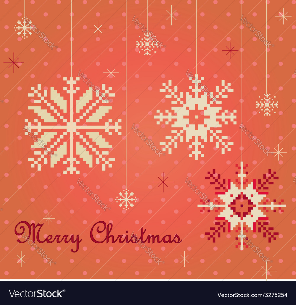 Snowflakes card vector | Price: 1 Credit (USD $1)