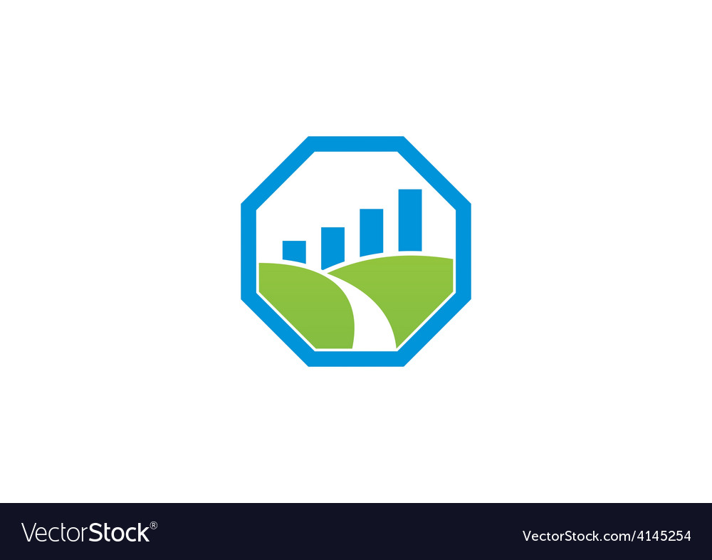Stop landscape graph business logo vector | Price: 1 Credit (USD $1)