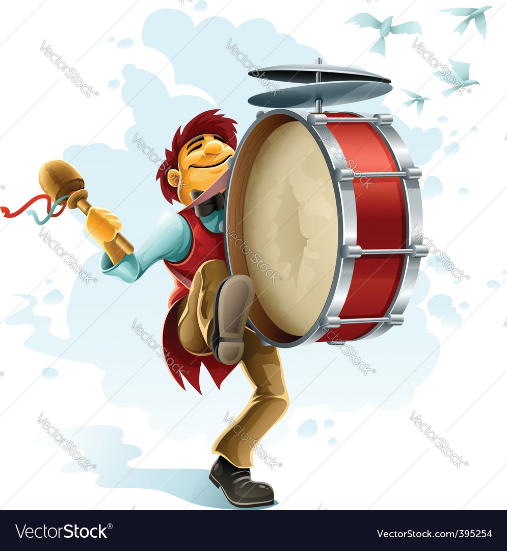 Street musician vector | Price: 3 Credit (USD $3)