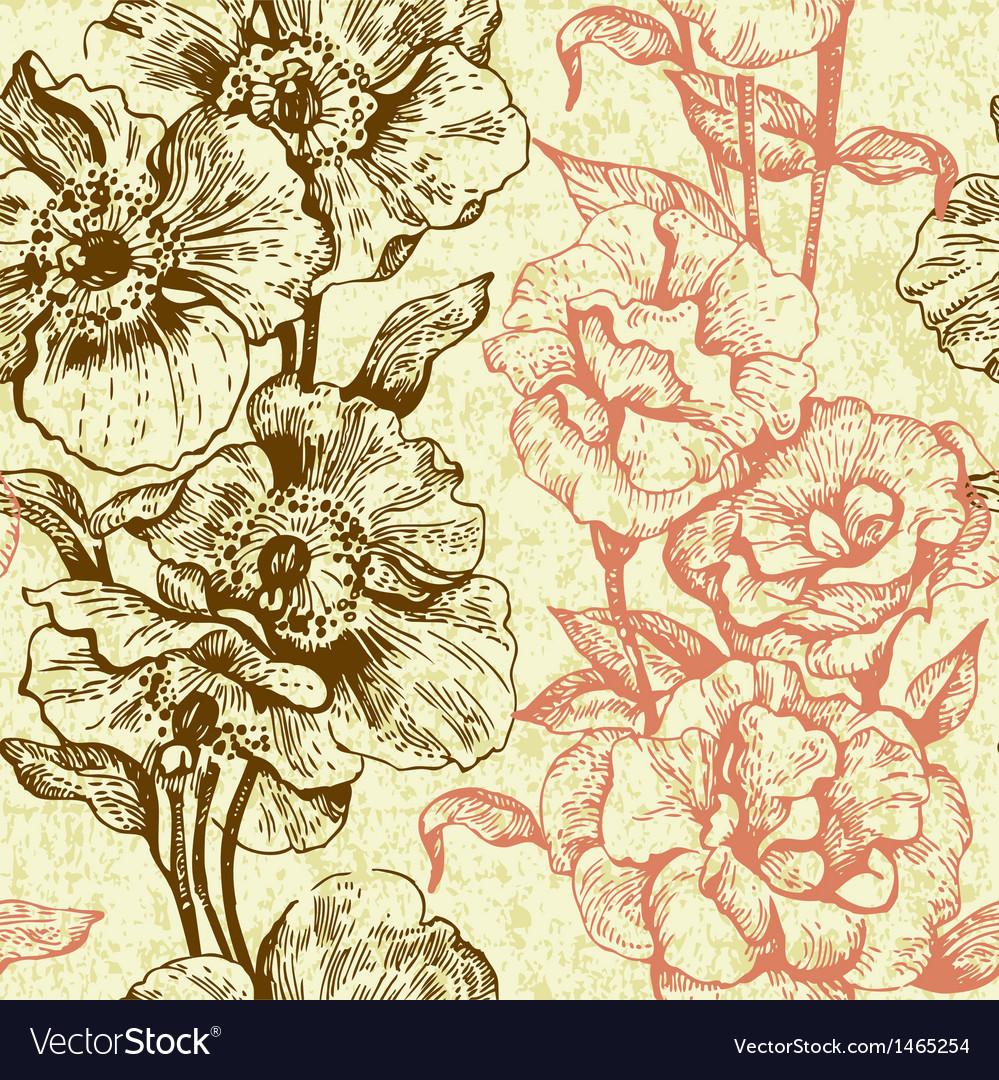 Vintage seamless floral pattern vector   Price: 1 Credit (USD $1)