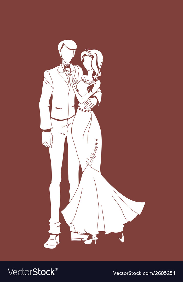 Wedding couple background vector | Price: 1 Credit (USD $1)