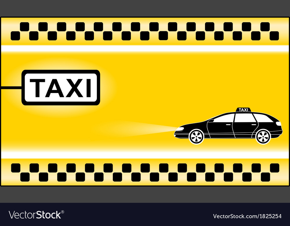 Yellow modern taxi background vector | Price: 1 Credit (USD $1)