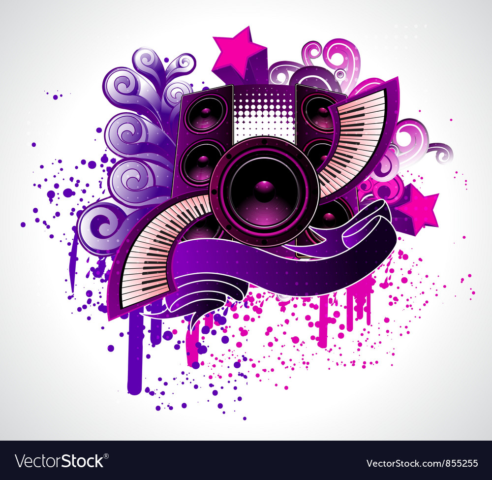 Abstract music poster vector | Price: 1 Credit (USD $1)