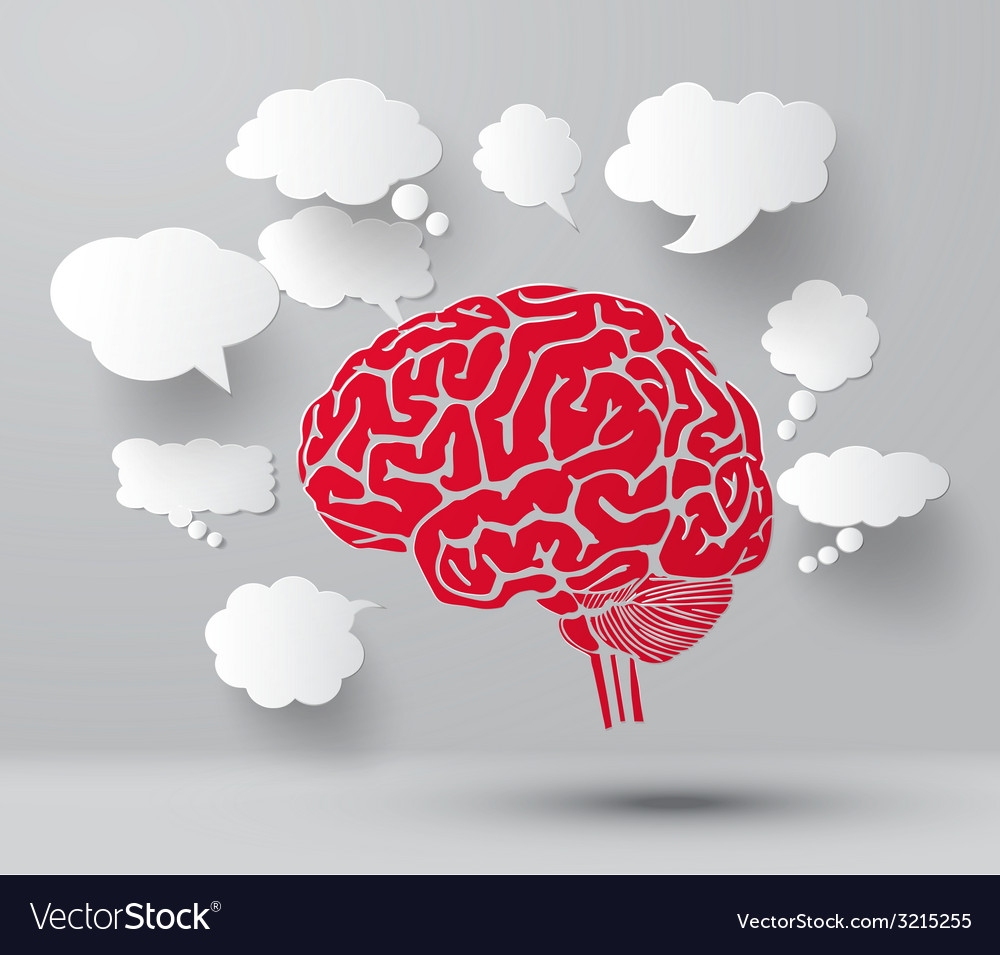Blub and brain vector | Price: 1 Credit (USD $1)