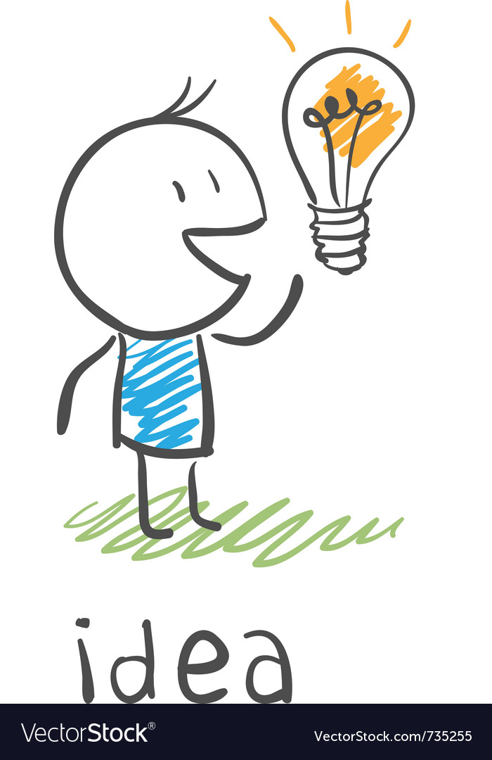 Concept bulb drawing vector | Price: 1 Credit (USD $1)