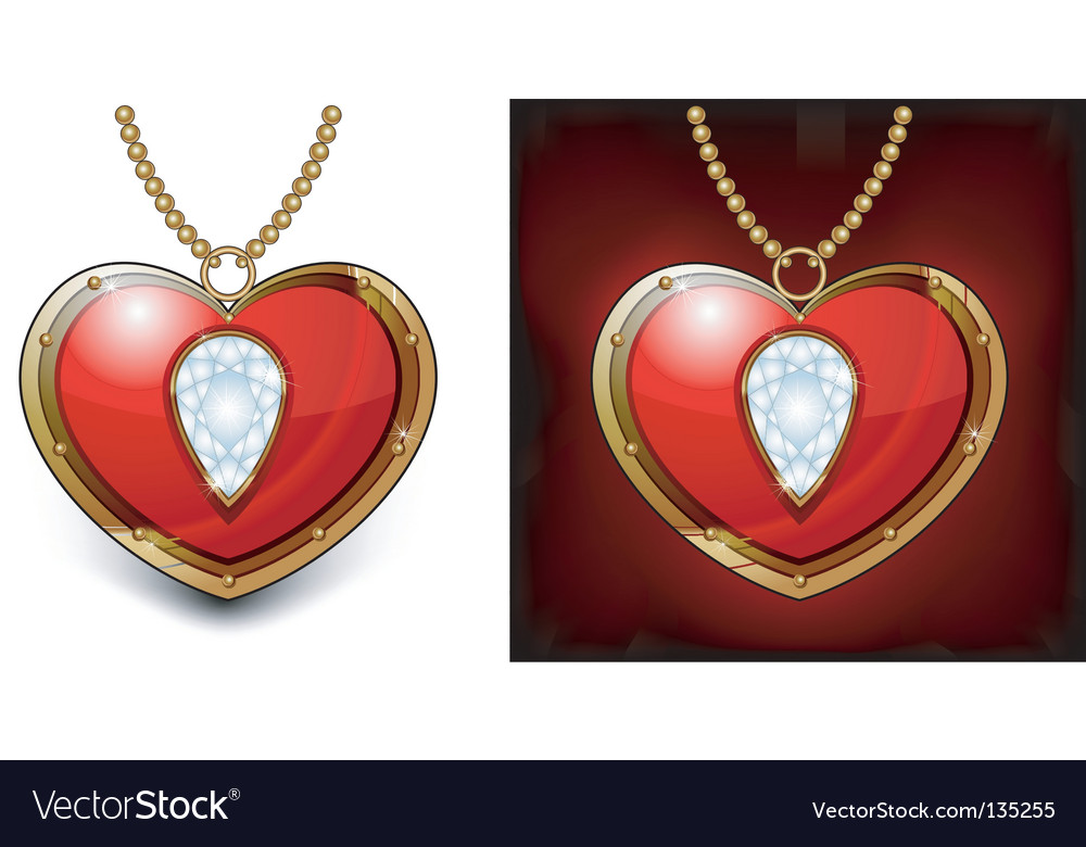 Diamond heart vector | Price: 1 Credit (USD $1)
