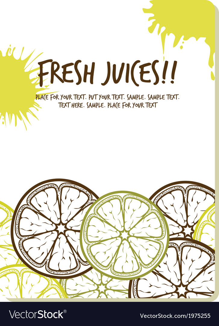 Fresh juices1 vector | Price: 1 Credit (USD $1)