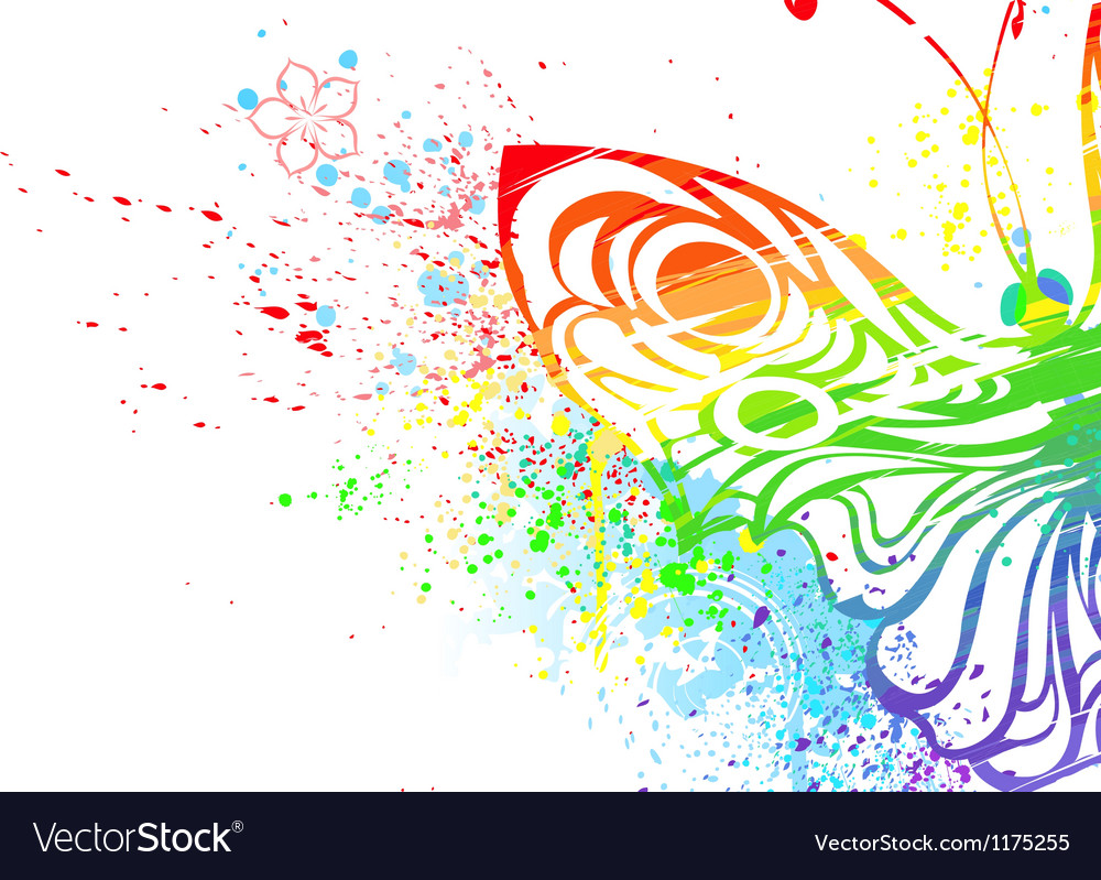 Rainbow butterfly vector | Price: 1 Credit (USD $1)