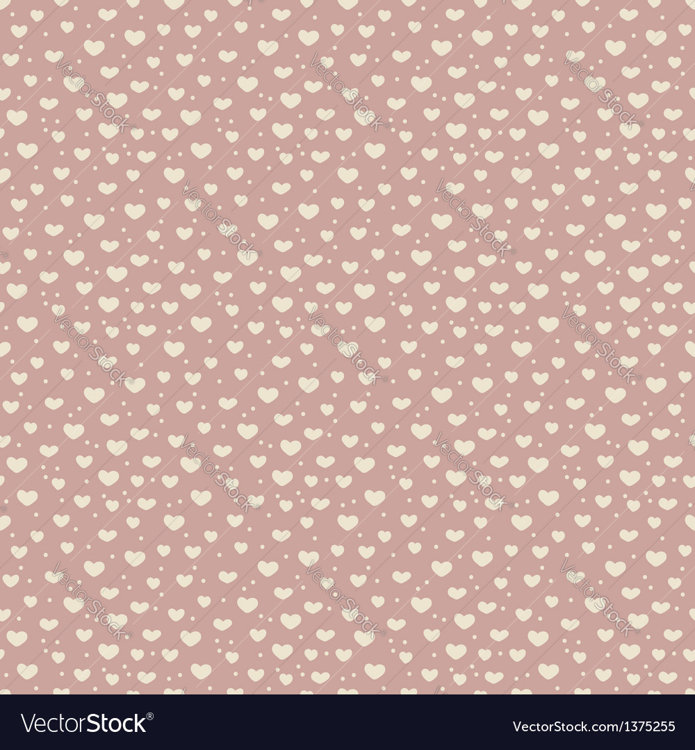 Seamless pattern of hearts and snow vector | Price: 1 Credit (USD $1)