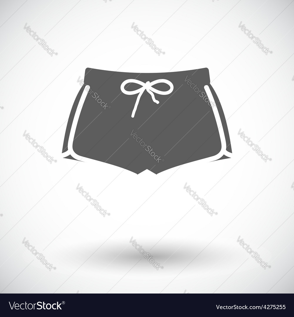 Sports shorts single icon vector | Price: 1 Credit (USD $1)