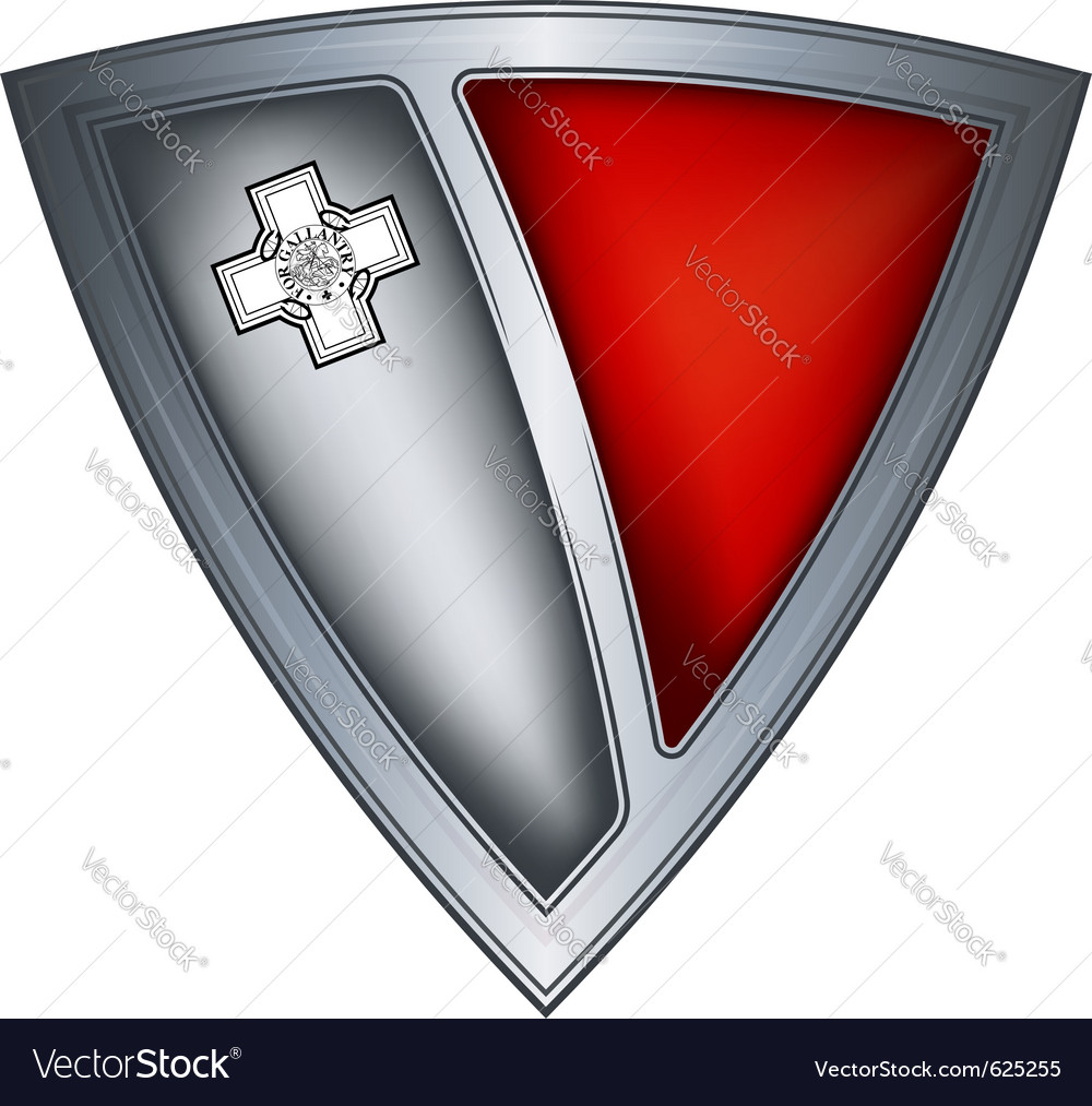 Steel shield with flag malta vector | Price: 1 Credit (USD $1)