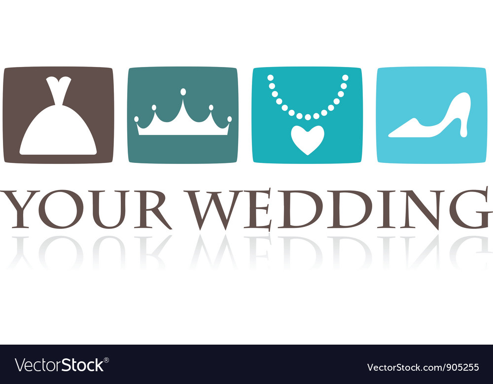 Wedding icons and graphic elements vector | Price: 1 Credit (USD $1)