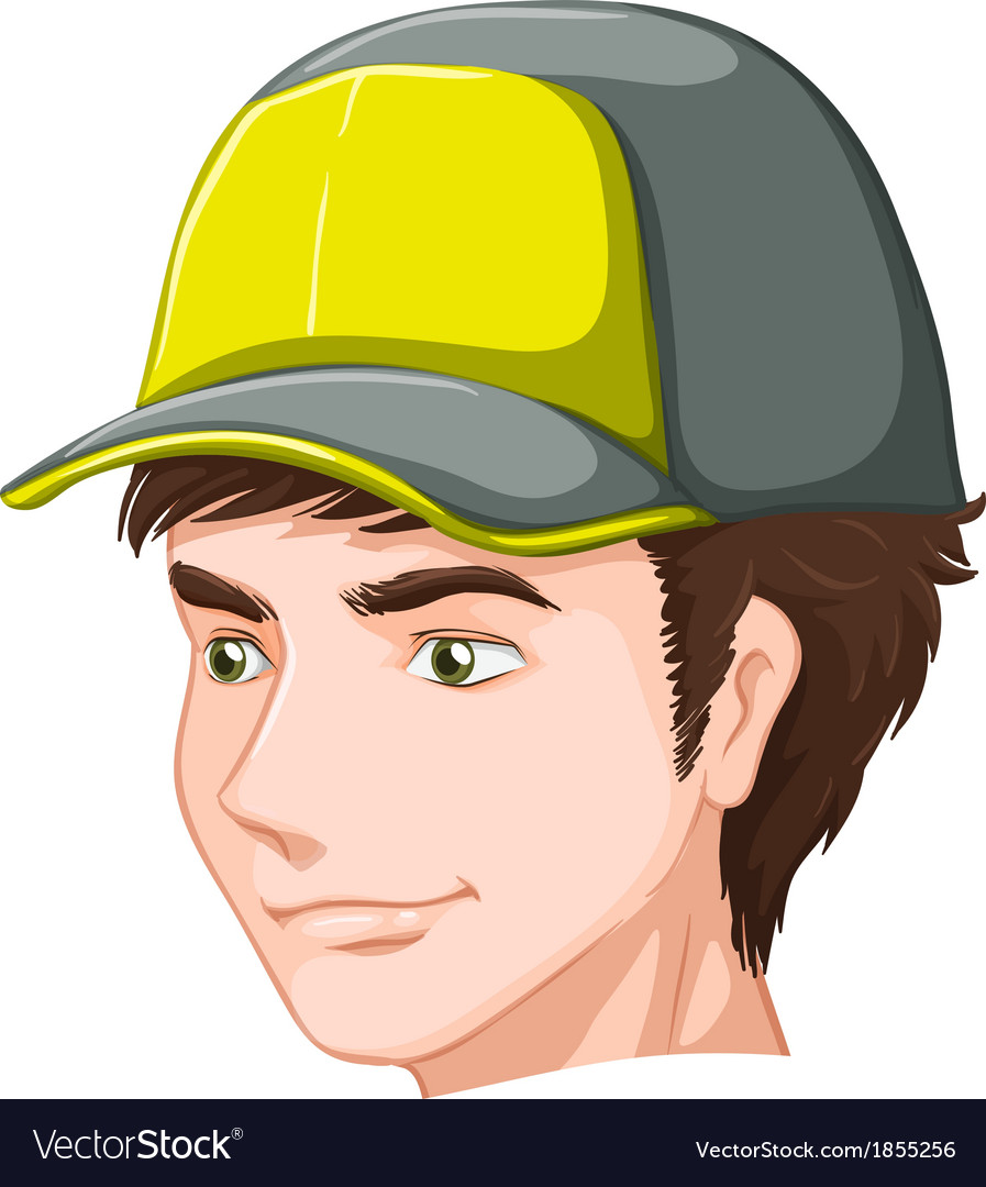 A boy wearing a cap vector | Price: 1 Credit (USD $1)