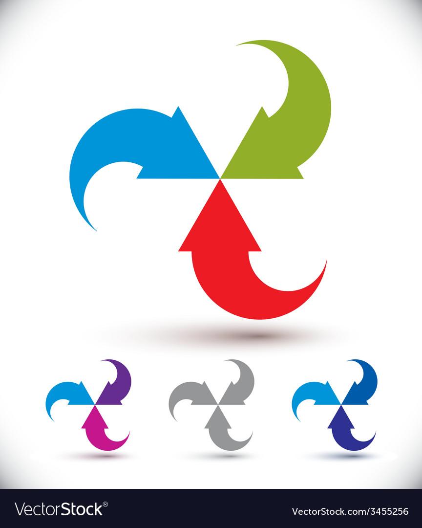 Arrows abstract loop symbol conceptual pictogram vector | Price: 1 Credit (USD $1)
