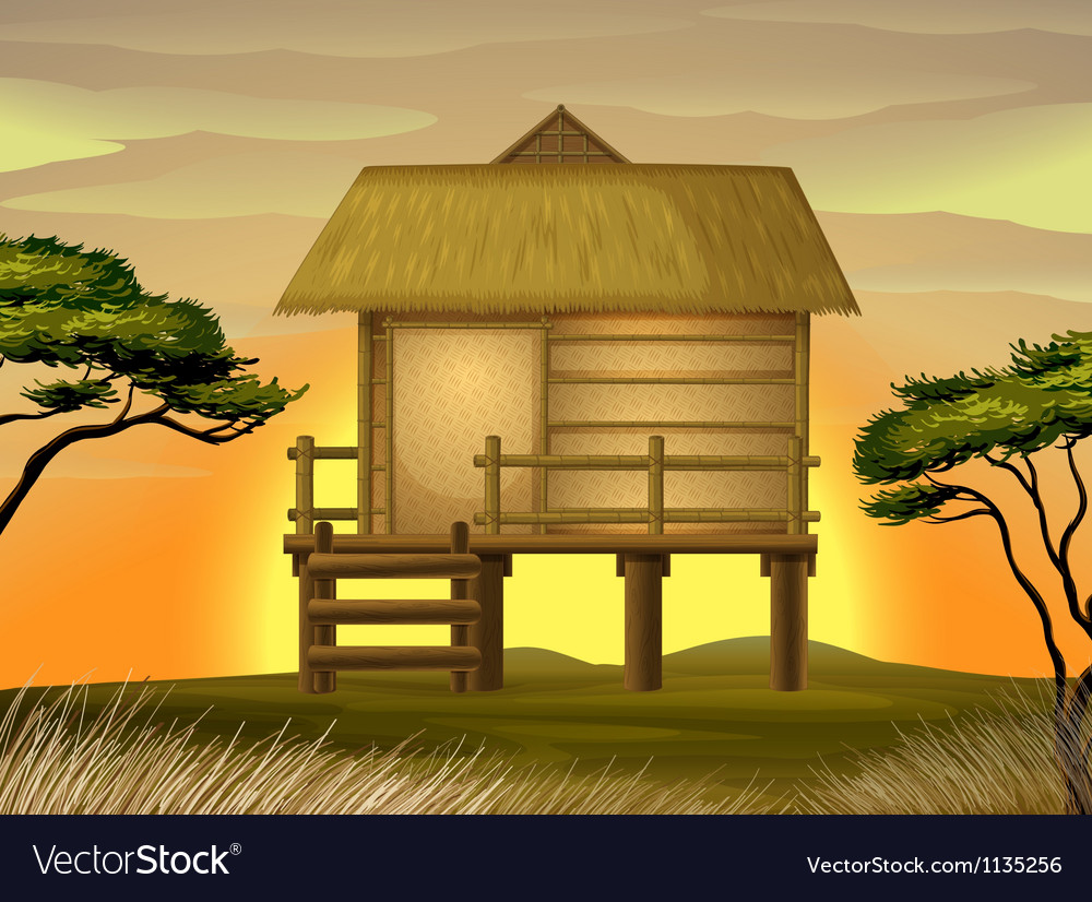 Bamboo hut vector | Price: 1 Credit (USD $1)