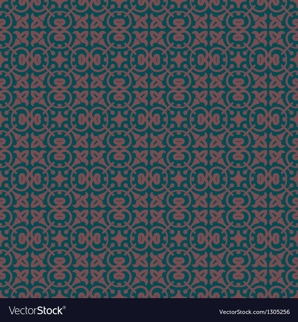 Charcoal colors art nouveau style plant pattern vector | Price: 1 Credit (USD $1)