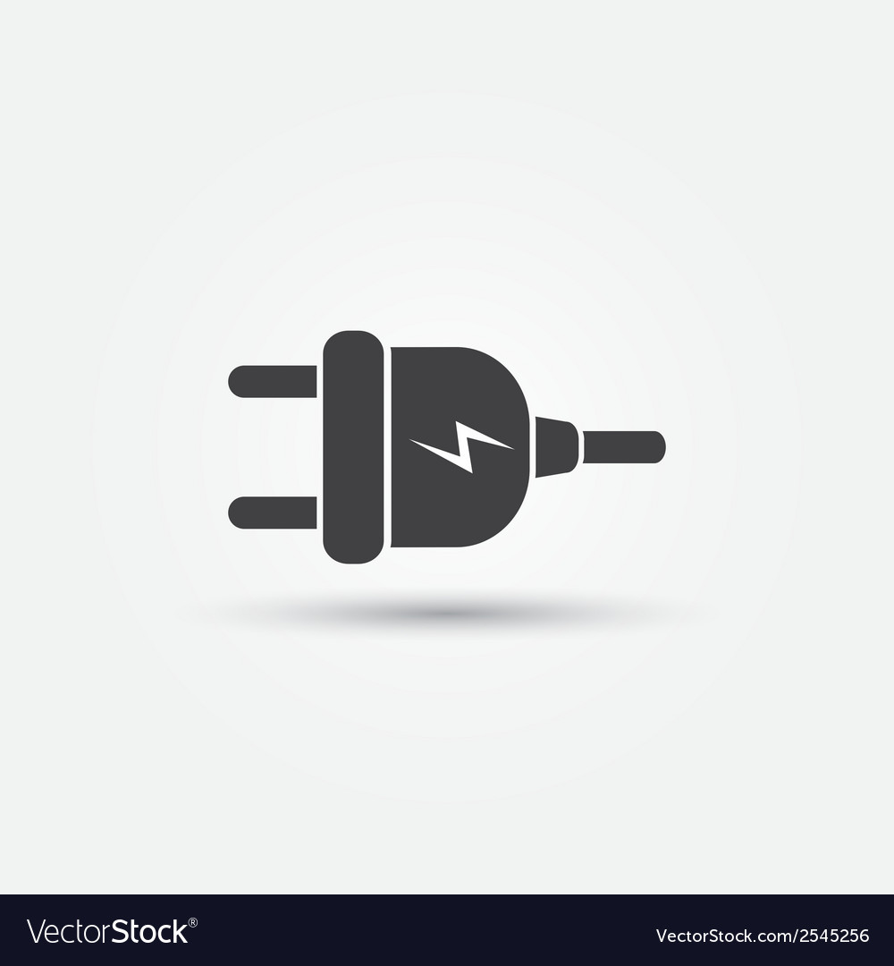 Electric plug - minimal icon vector | Price: 1 Credit (USD $1)