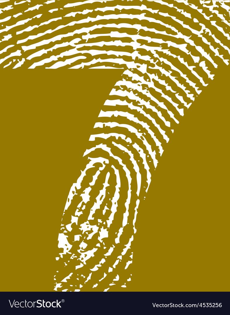 Fingerprint alphabet no 7 vector | Price: 1 Credit (USD $1)