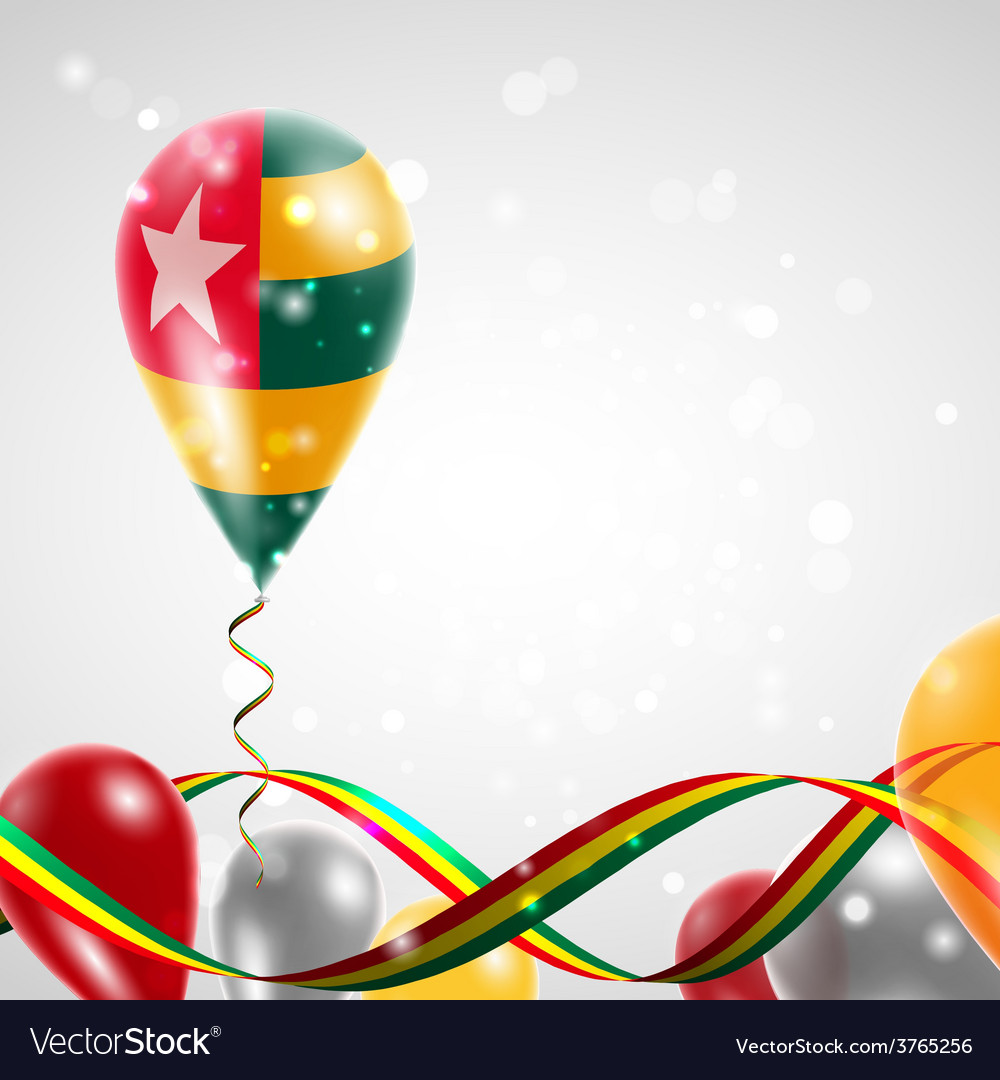 Flag of togo on balloon vector | Price: 3 Credit (USD $3)