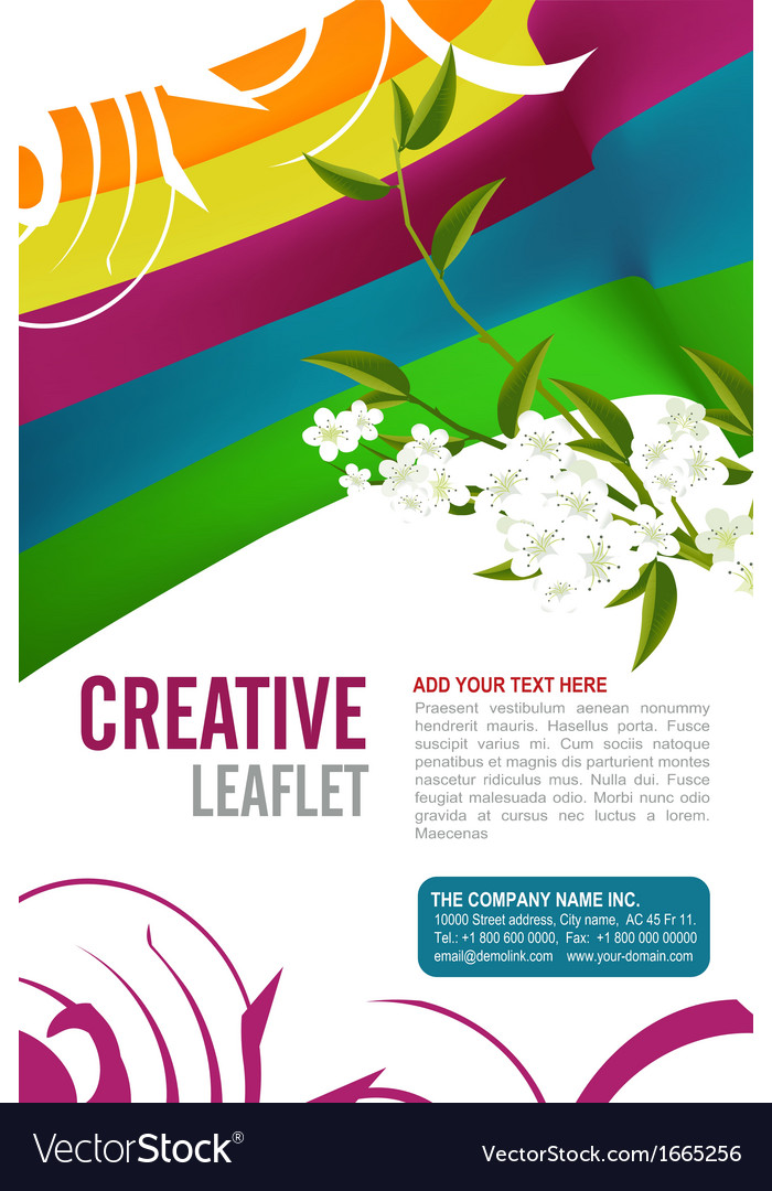 Leaflet design vector | Price: 1 Credit (USD $1)
