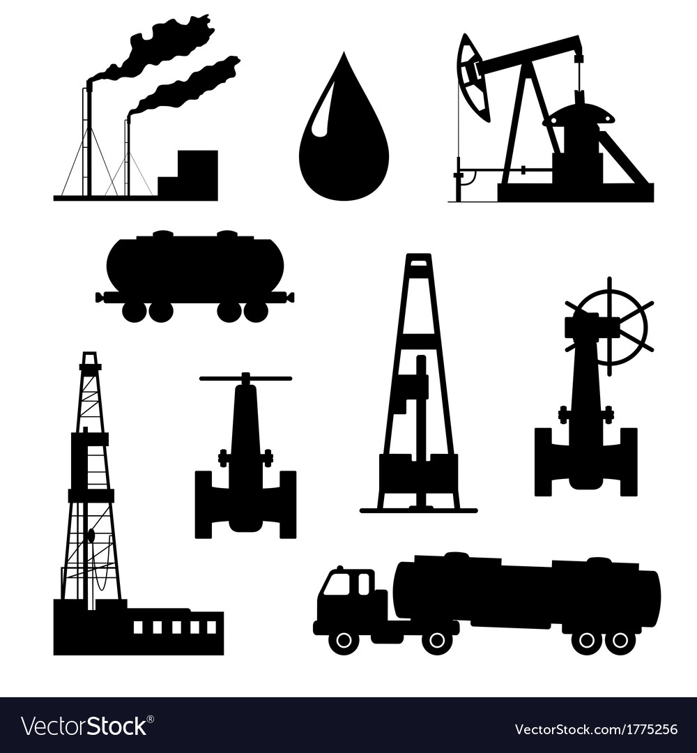 Oil and petroleum icon set vector | Price: 1 Credit (USD $1)