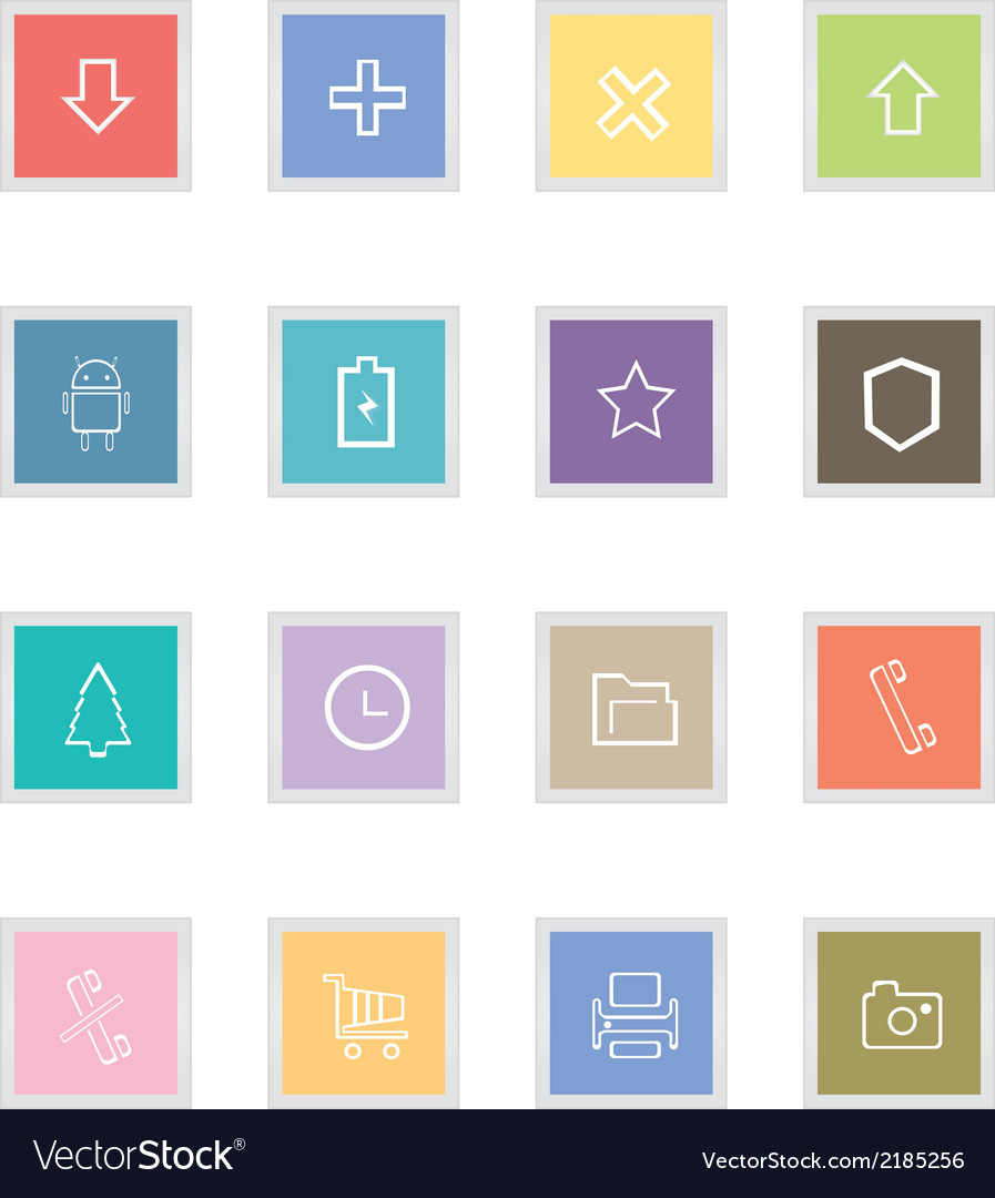 Outline button icons vector | Price: 1 Credit (USD $1)