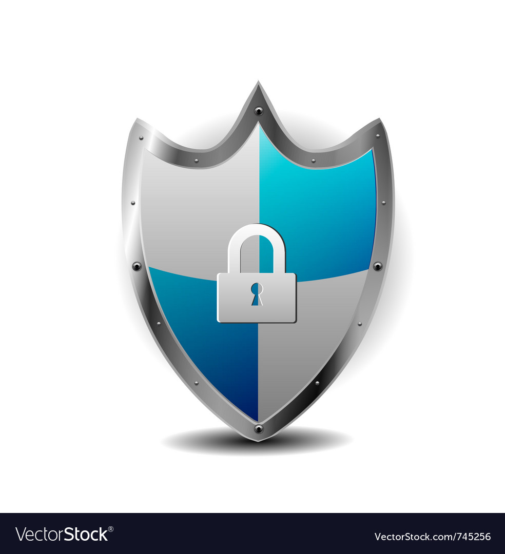 Protection blue shield vector | Price: 1 Credit (USD $1)