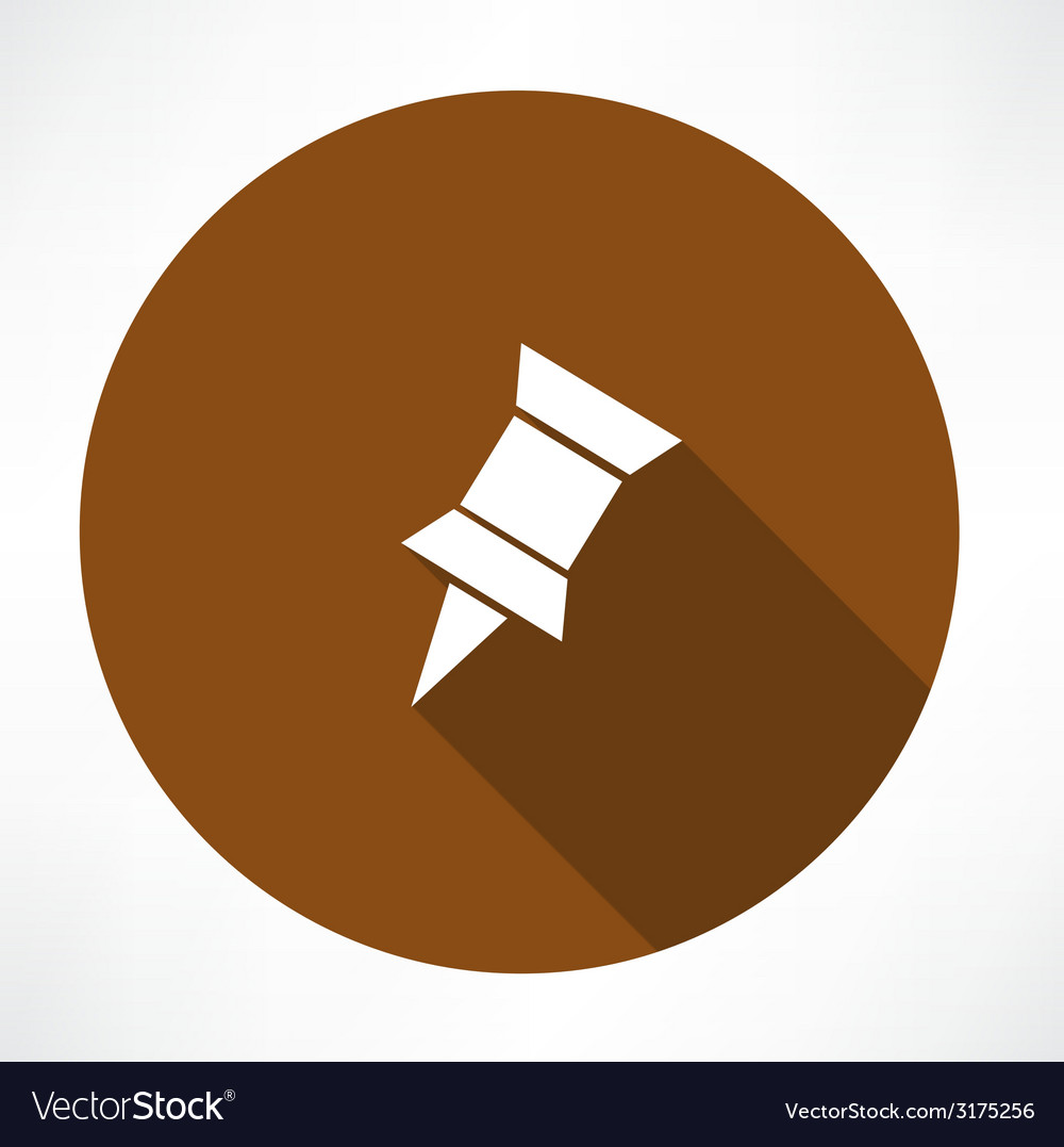 Pushpin icon vector | Price: 1 Credit (USD $1)