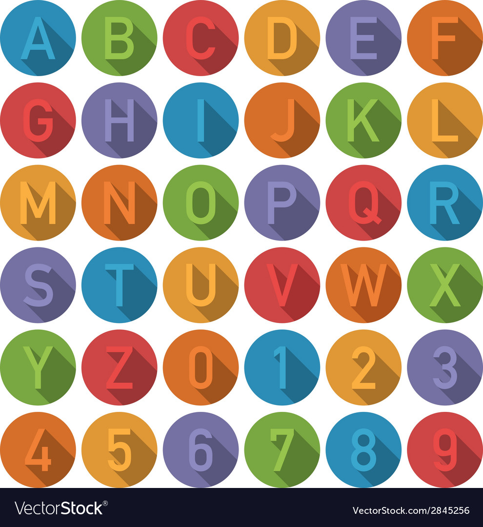 Round alphabet icons vector | Price: 1 Credit (USD $1)