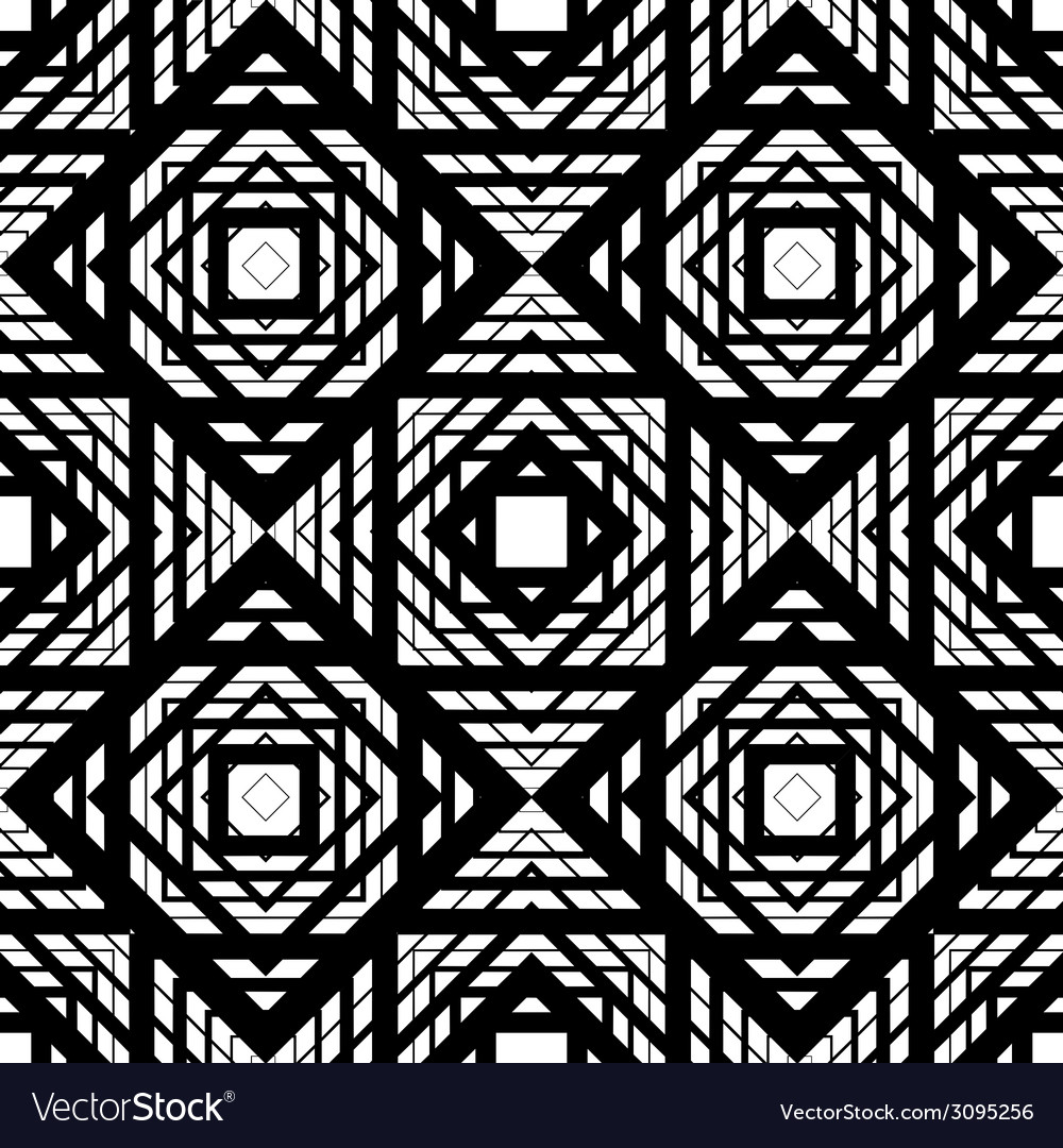 Seamless geometric pattern simple black and white vector | Price: 1 Credit (USD $1)