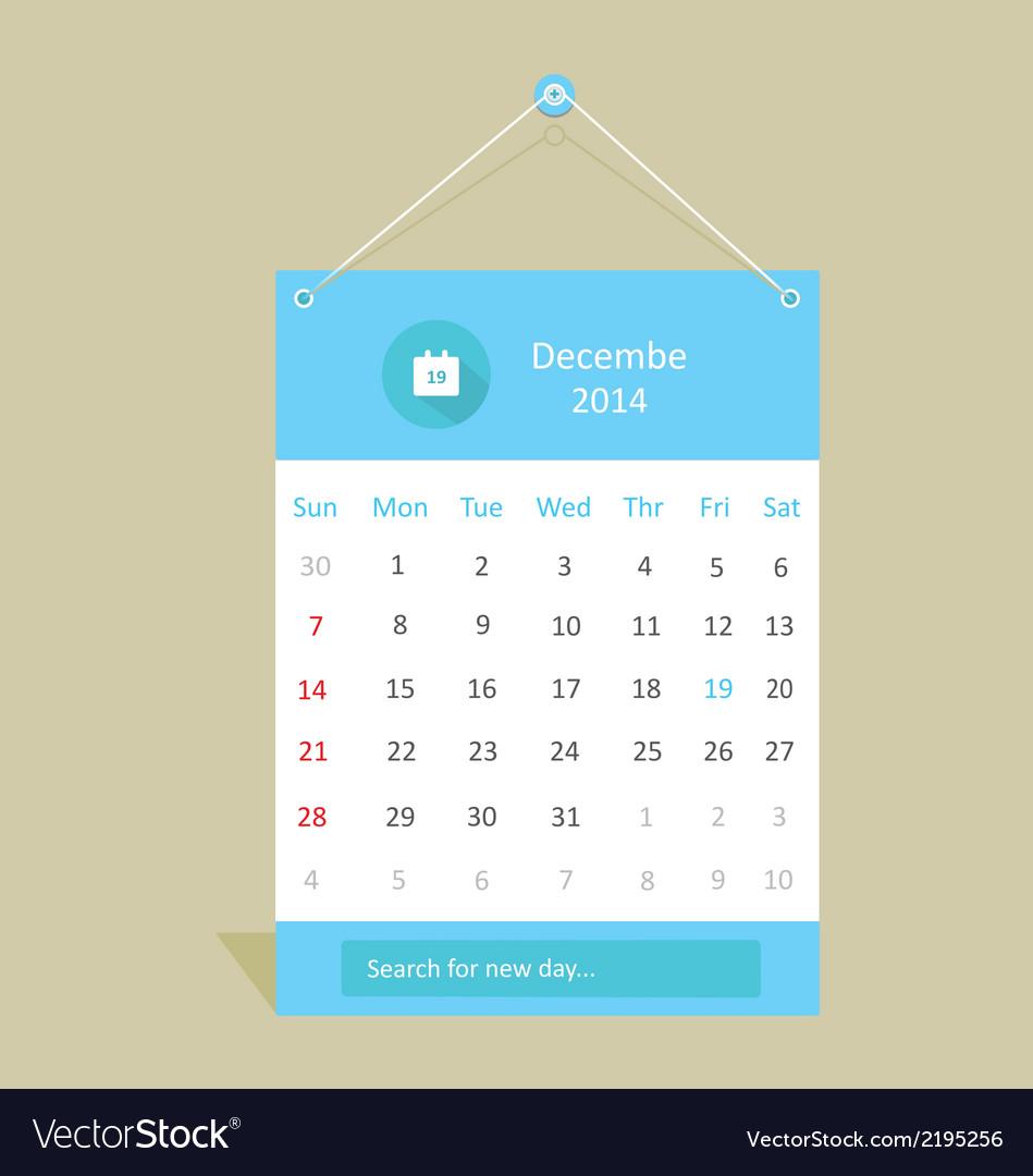 Shadow calendar vector | Price: 1 Credit (USD $1)
