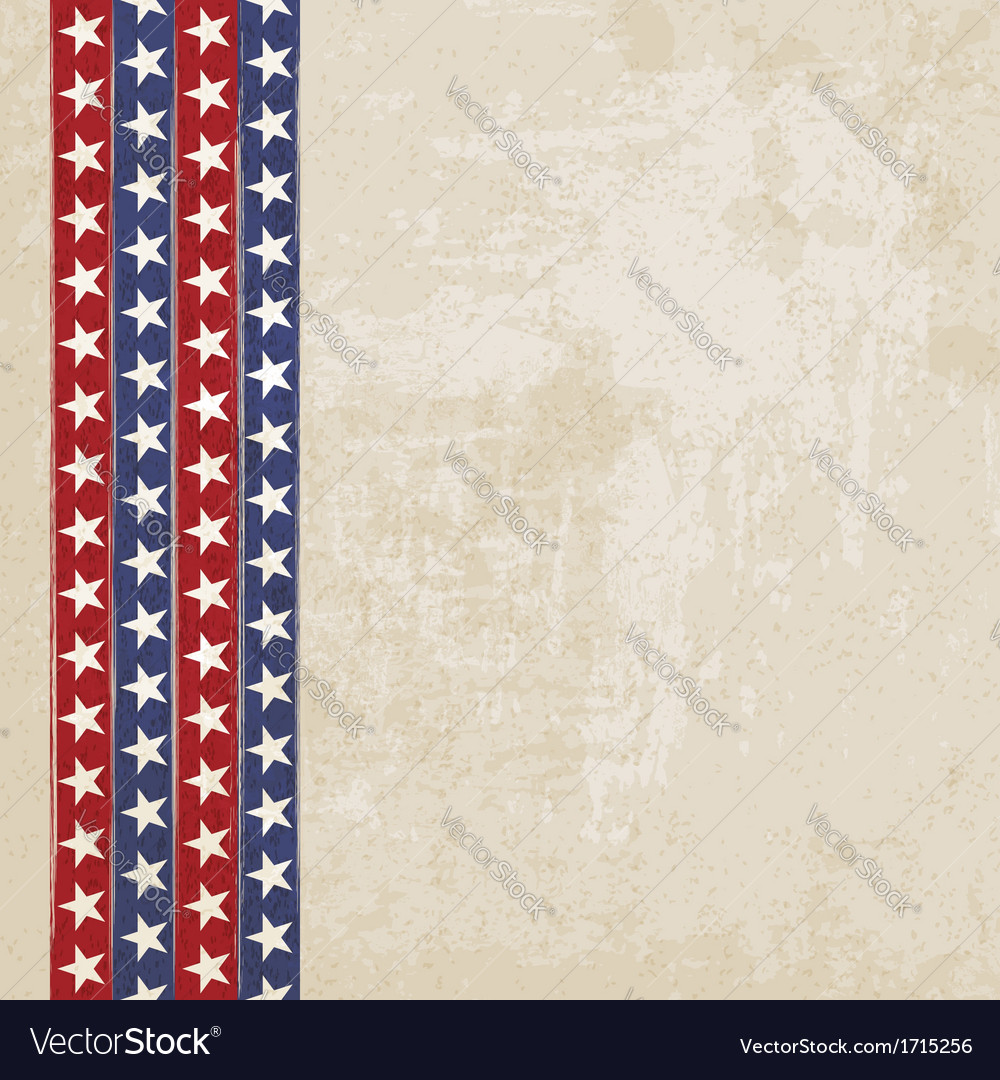 Vintage background with stripes and stars vector | Price: 1 Credit (USD $1)