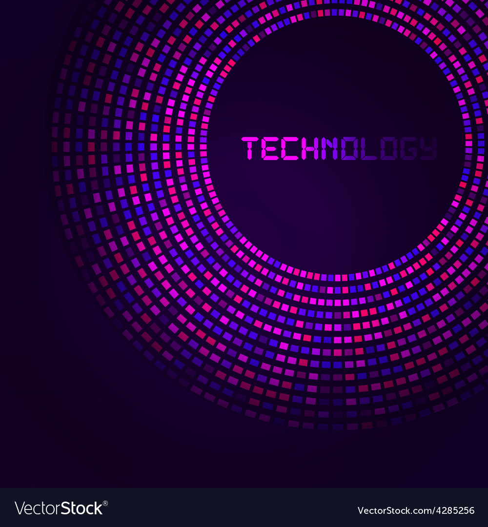 Violet technology round for your logo template vector | Price: 1 Credit (USD $1)