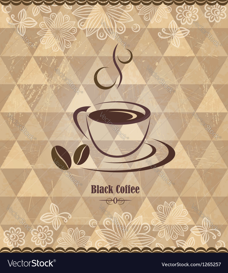 Black coffee vintage pattern vector | Price:  Credit (USD $)