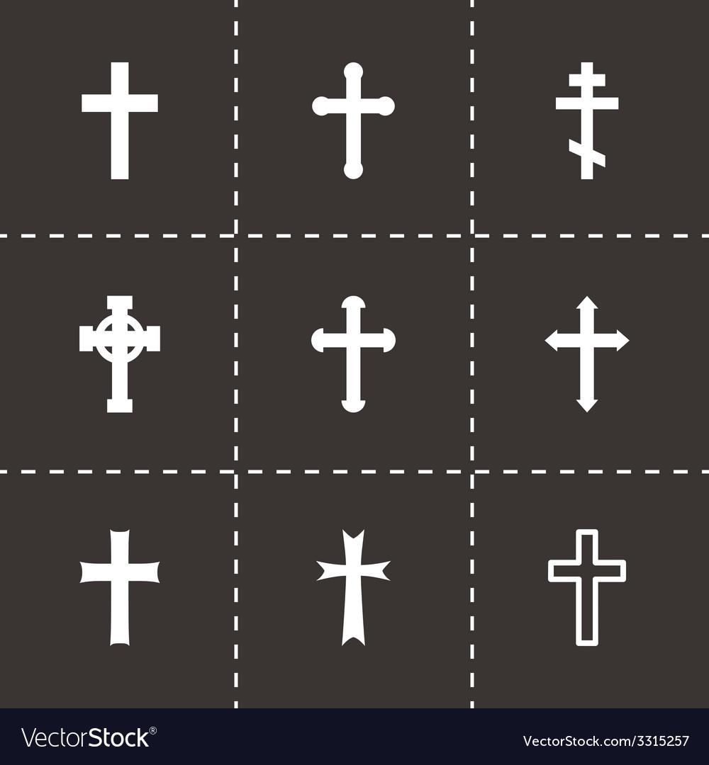 Black crosses icon set vector   Price: 1 Credit (USD $1)