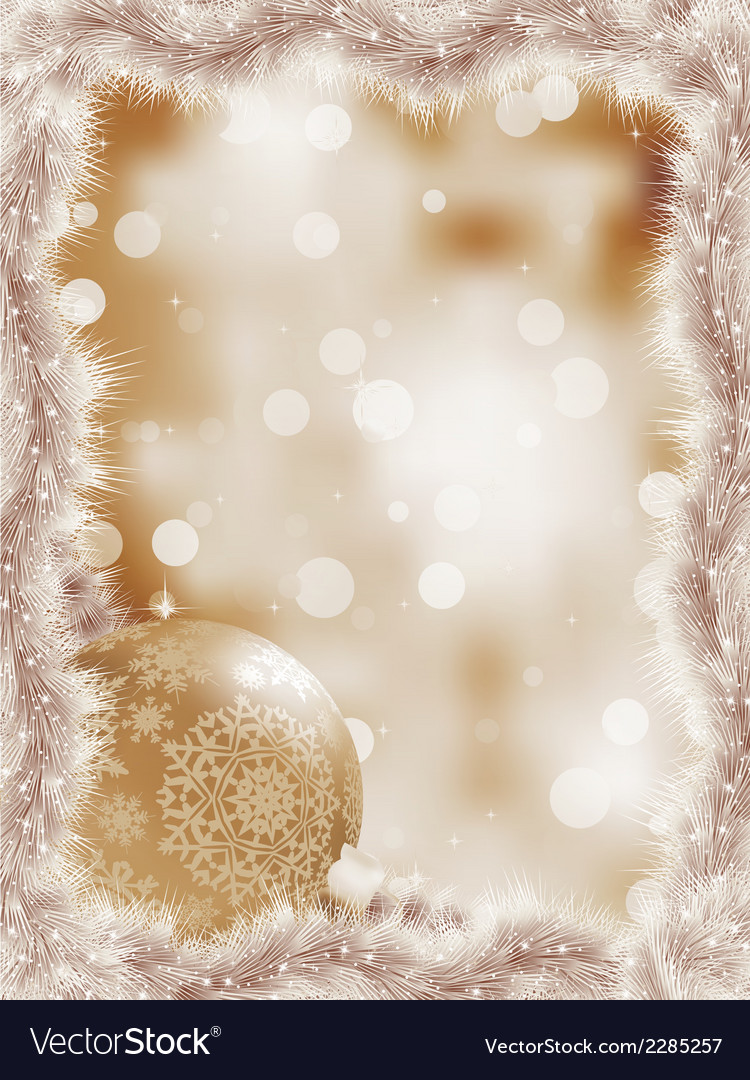 Elegant christmas snowflakes tree branches eps 8 vector | Price: 1 Credit (USD $1)