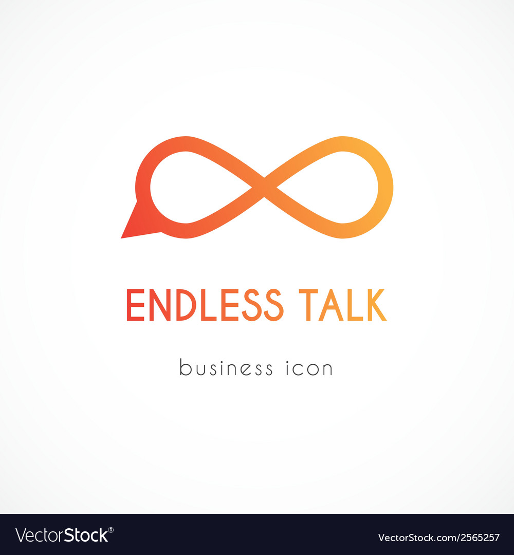 Endless talk symbol icon vector | Price: 1 Credit (USD $1)