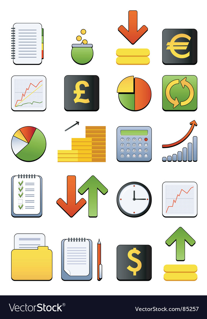 Financial web icon vector | Price: 1 Credit (USD $1)