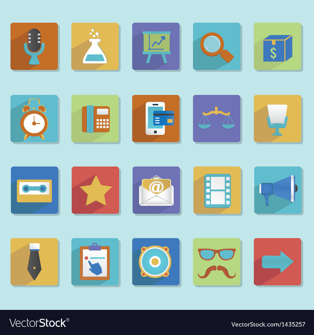 Flat icons for web design - part 3 vector | Price: 3 Credit (USD $3)