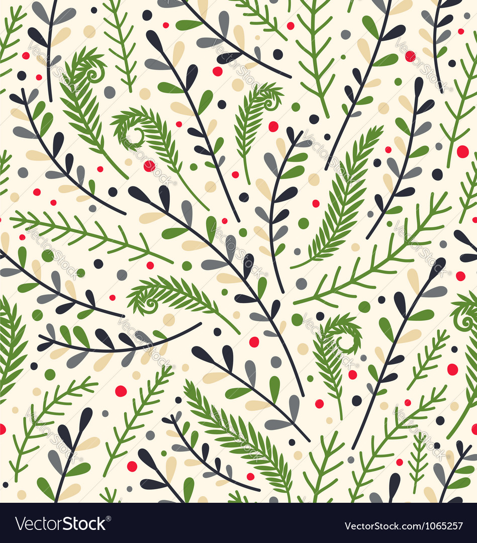 Floral holiday pattern vector | Price: 1 Credit (USD $1)