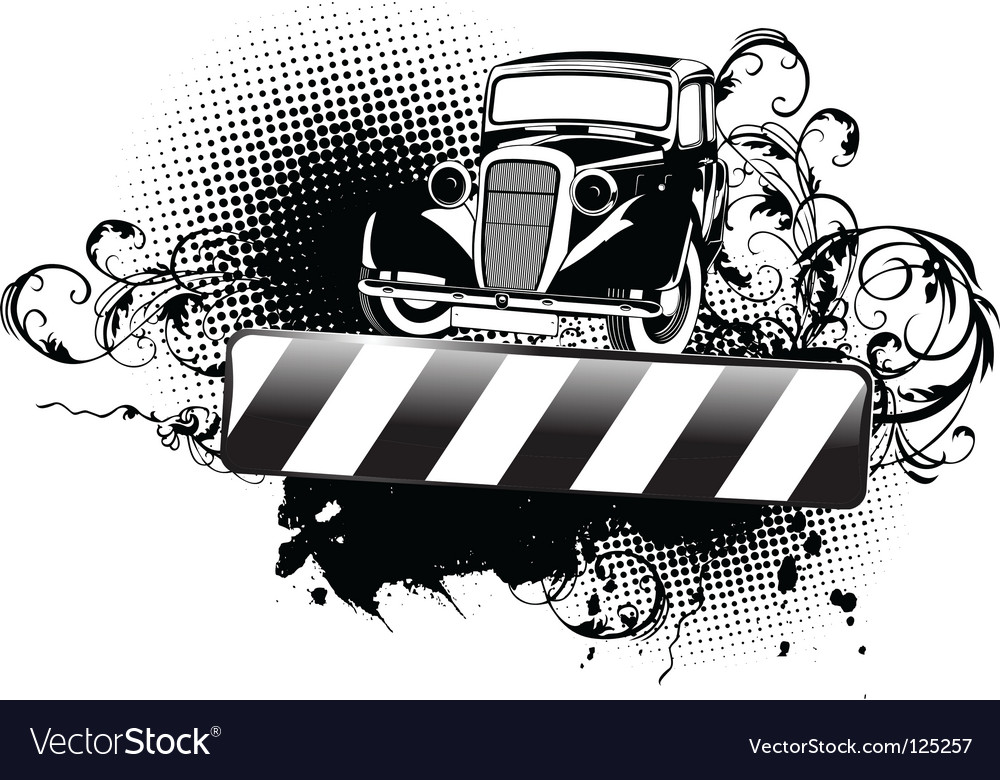 Grunge vintage car vector | Price: 1 Credit (USD $1)