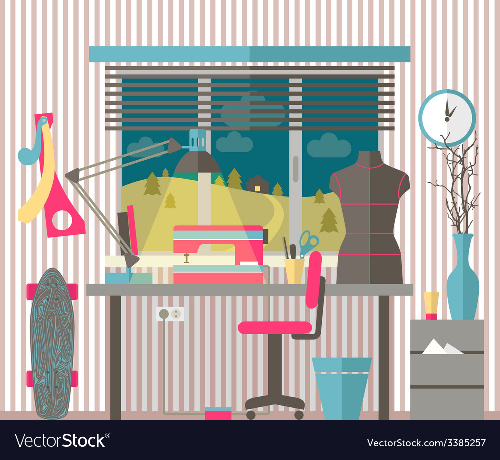 House female hobbies vector | Price: 1 Credit (USD $1)