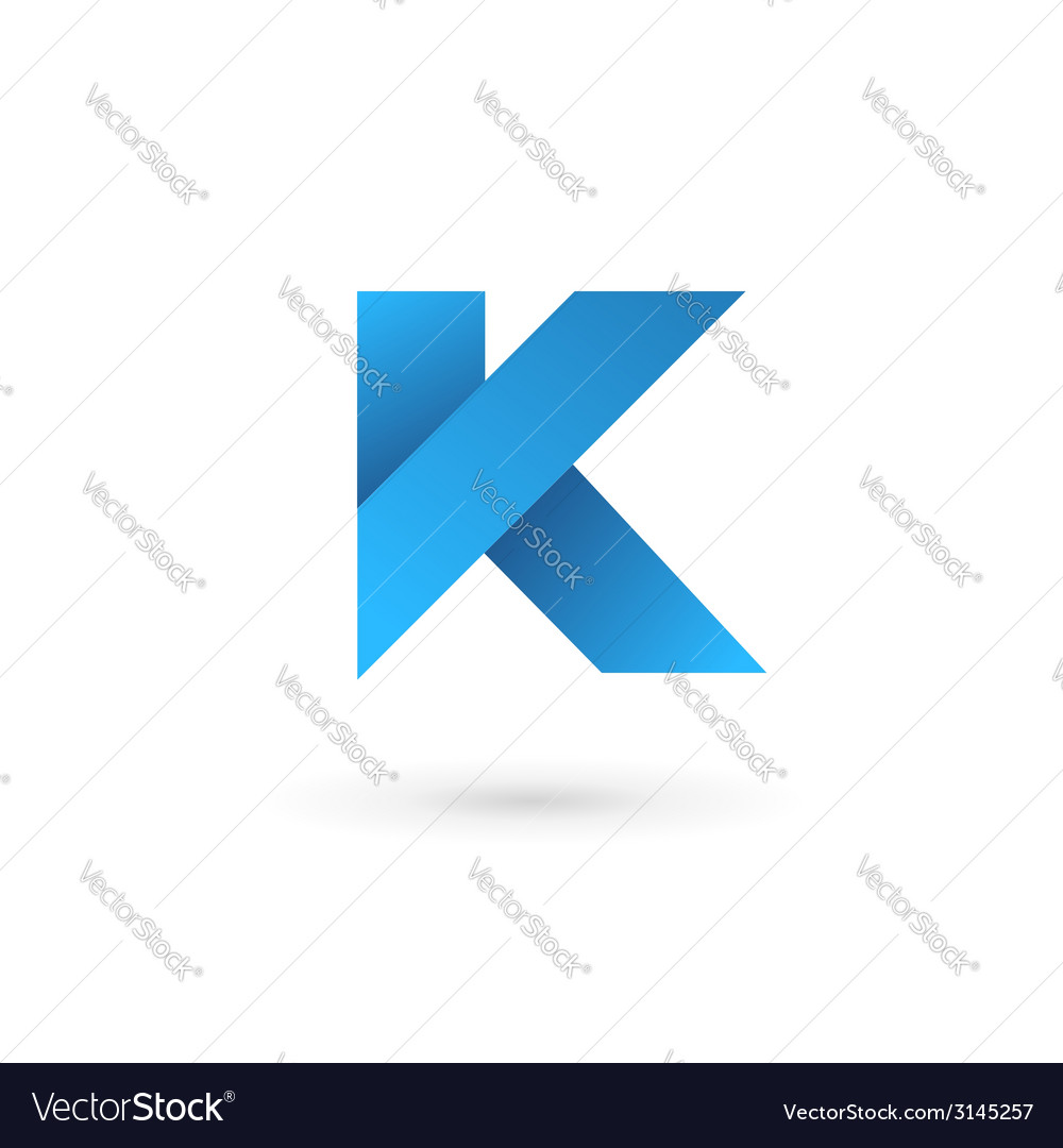 Letter k logo icon design template elements vector | Price: 1 Credit (USD $1)