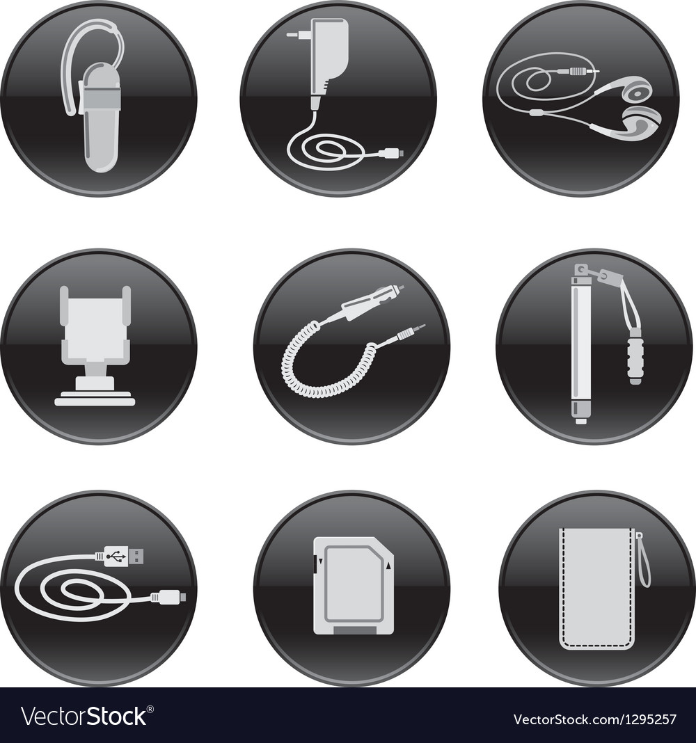 Mobile devices accessories vector | Price: 3 Credit (USD $3)