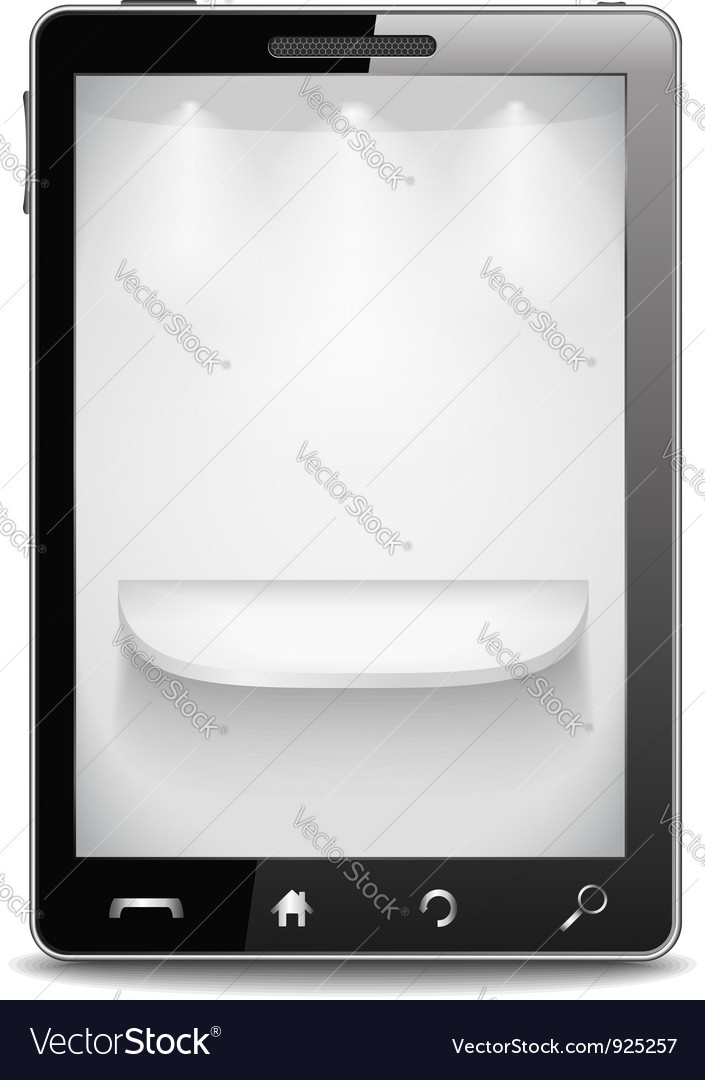 Mobile phone with gray shelf on the screen vector | Price: 3 Credit (USD $3)